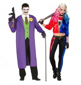 O casal Joker e Harley Quinn original e engraçado para se disfraçar com o seu parceiro