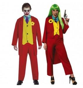 O casal Jokers Joaquin Phoenix original e engraçado para se disfraçar com o seu parceiro