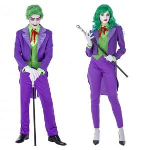 O casal Joker supervilão original e engraçado para se disfraçar com o seu parceiro