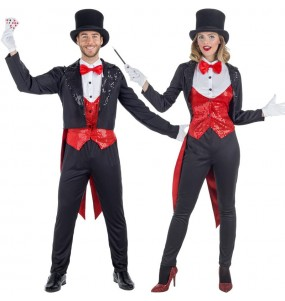 O casal Mágicos Ilusionistas original e engraçado para se disfraçar com o seu parceiro