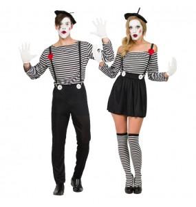 O casal Palhaços Mime original e engraçado para se disfraçar com o seu parceiro