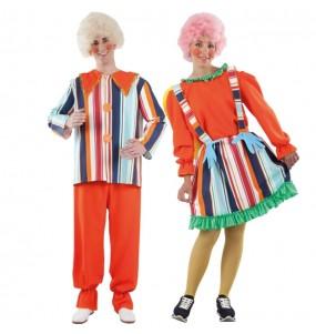 O casal Bonecos de corda original e engraçado para se disfraçar com o seu parceiro