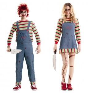 O casal Bonecos assassinos Chucky original e engraçado para se disfraçar com o seu parceiro