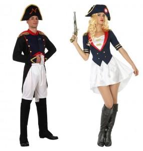 O casal Napoleão original e engraçado para se disfraçar com o seu parceiro