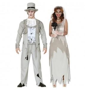 O casal casamento fantasma original e engraçado para se disfraçar com o seu parceiro