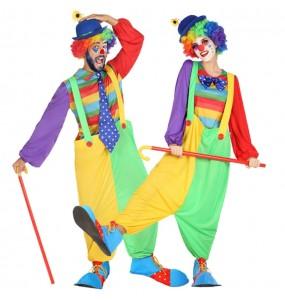O casal palhaço de circo original e engraçado para se disfraçar com o seu parceiro