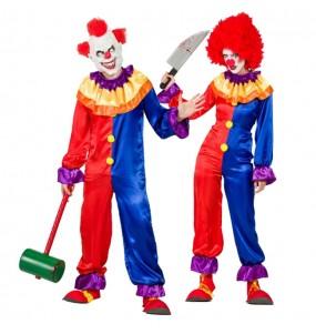 O casal palhaços diabólicos original e engraçado para se disfraçar com o seu parceiro