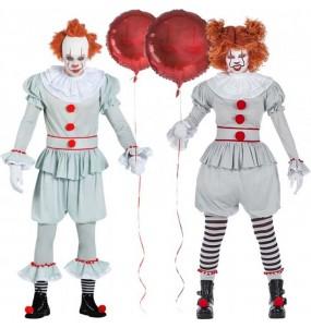 O casal palhaços IT Pennywise original e engraçado para se disfraçar com o seu parceiro
