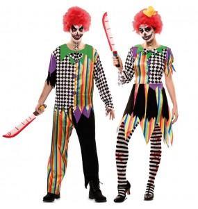 O casal palhaços amaldiçoados original e engraçado para se disfraçar com o seu parceiro