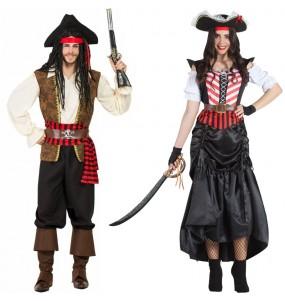O casal Piratas alto mar original e engraçado para se disfraçar com o seu parceiro