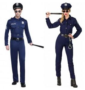 O casal Oficiales de Polícia original e engraçado para se disfraçar com o seu parceiro