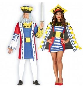 O casal Reis do póquer original e engraçado para se disfraçar com o seu parceiro