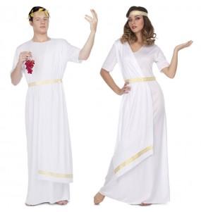 O casal Romanos brancos original e engraçado para se disfraçar com o seu parceiro