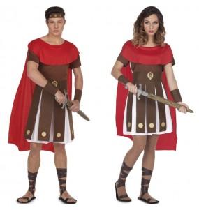 O casal romanos espartanos original e engraçado para se disfraçar com o seu parceiro