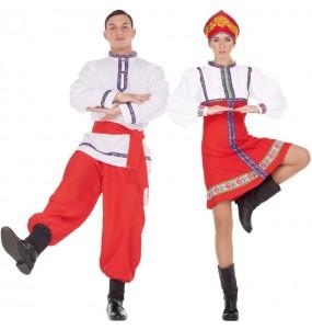 O casal Russos clássicos original e engraçado para se disfraçar com o seu parceiro