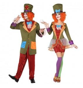 O casal Chapeleiro Maluco original e engraçado para se disfraçar com o seu parceiro