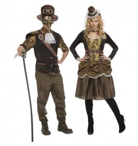 O casal Steampunk original e engraçado para se disfraçar com o seu parceiro