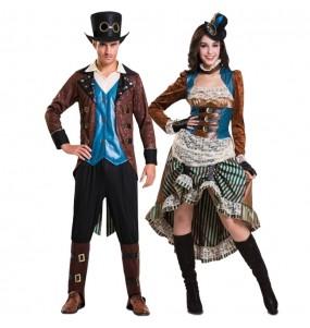 O casal Aventureiros Steampunk original e engraçado para se disfraçar com o seu parceiro
