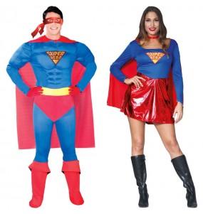 O casal Superman e Supergirl original e engraçado para se disfraçar com o seu parceiro