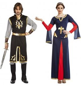 O casal Templários Medievais original e engraçado para se disfraçar com o seu parceiro