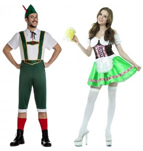 O casal Tiroleses alemães original e engraçado para se disfraçar com o seu parceiro