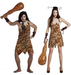 O casal Trogloditas selvagens original e engraçado para se disfraçar com o seu parceiro