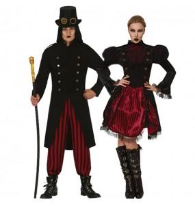 O casal Vampiros Steampunk original e engraçado para se disfraçar com o seu parceiro