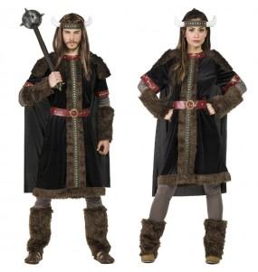 O casal Vikings Black original e engraçado para se disfraçar com o seu parceiro
