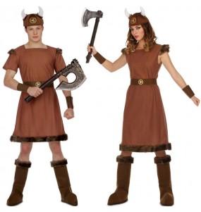 O casal guerreiros viking original e engraçado para se disfraçar com o seu parceiro