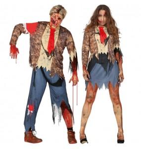 O casal Zombies amaldiçoaos original e engraçado para se disfraçar com o seu parceiro
