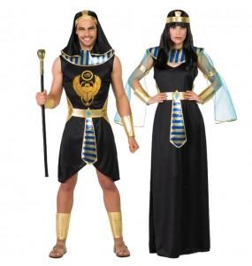 O casal egípcios Asenet e Abayomi original e engraçado para se disfraçar com o seu parceiro