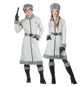 O casal espiões russos original e engraçado para se disfraçar com o seu parceiro