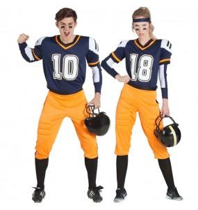 O casal futebol americano da NFL original e engraçado para se disfraçar com o seu parceiro