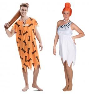 O casal Família Flintstone original e engraçado para se disfraçar com o seu parceiro