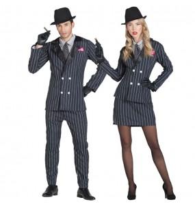 O casal gangster de Chicago original e engraçado para se disfraçar com o seu parceiro