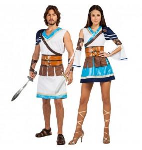 O casal Guerreiros Gregos original e engraçado para se disfraçar com o seu parceiro