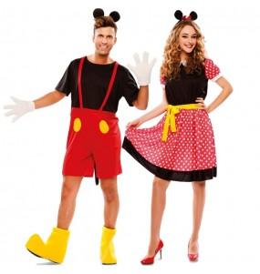 O casal Mickey e Minnie Mouse original e engraçado para se disfraçar com o seu parceiro