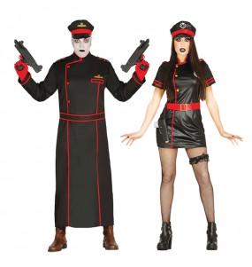 O casal Militares góticos original e engraçado para se disfraçar com o seu parceiro
