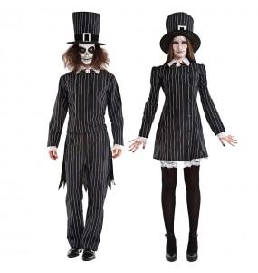 O casal Senhor e senhorita Grimbone original e engraçado para se disfraçar com o seu parceiro