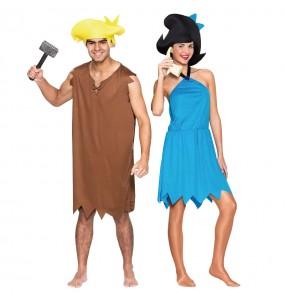 O casal Barney e Betty Rubble original e engraçado para se disfraçar com o seu parceiro