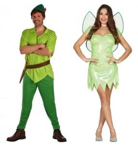 O casal Peter Pan e Sininho original e engraçado para se disfraçar com o seu parceiro
