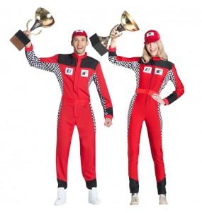 O casal Pilotos de corridas original e engraçado para se disfraçar com o seu parceiro