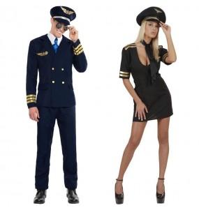 O casal Pilotos de avião original e engraçado para se disfraçar com o seu parceiro
