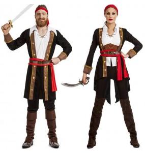 Fatos de casal Piratas Capitão Hook
