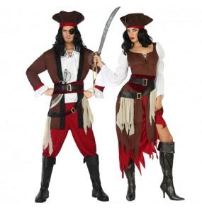 O casal Piratas do Caribe original e engraçado para se disfraçar com o seu parceiro