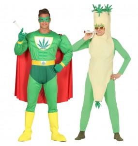 O casal Super Herói Marijuana e Charro original e engraçado para se disfraçar com o seu parceiro