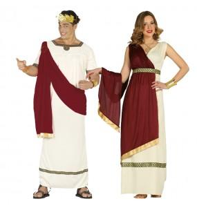 O casal Romanos antiga Roma original e engraçado para se disfraçar com o seu parceiro