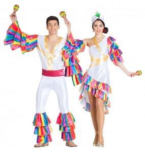 O casal Rumbeiros Cuba original e engraçado para se disfraçar com o seu parceiro