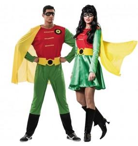 O casal Super Robin original e engraçado para se disfraçar com o seu parceiro