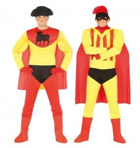 O casal Super-heróis cómicos original e engraçado para se disfraçar com o seu parceiro